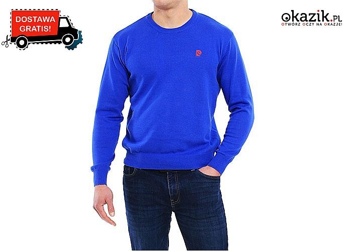 Hit! Klasyczny sweter męski Pierre Cardin z okrągłym dekoltem! Najwyższej jakości materiał! 100% Bawełny!