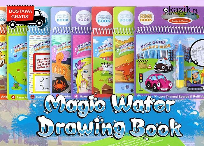 Wodna kolorowanka z magicznym długopisem