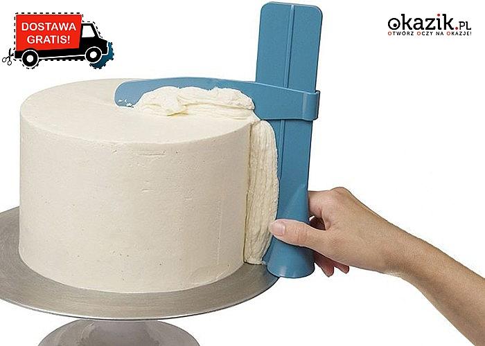 Niezwykły gadżet,  dzięki któremu uzyskasz idealnie gładką powierzchnie tortu