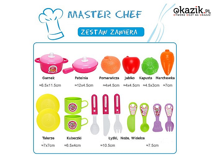Zestaw Master Chef Junior dla młodego kucharza