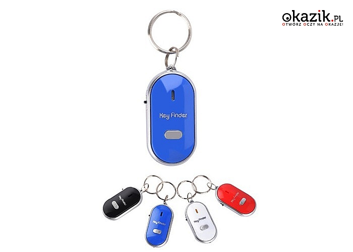 """Brelok który ułatwi Ci życie! Lokalizator """"Key Finder""""! Wystarczy zagwizdać, by znaleźć klucze!"""