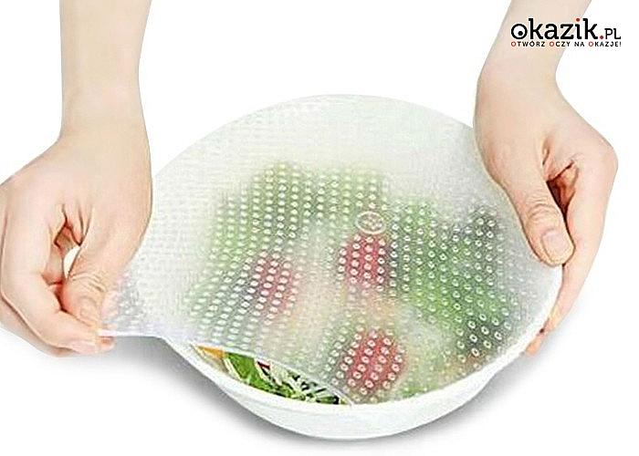 Przykrywki Stretch & Fresh wykonane z elastycznego silikonu kuchennego! Idealne do przechowywania żywności w lodówce!