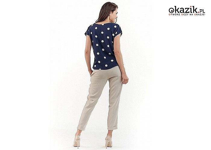 Bluzka lub koszula damska AWAMA w modne kropki! Najwyższa jakość! Modny fason!