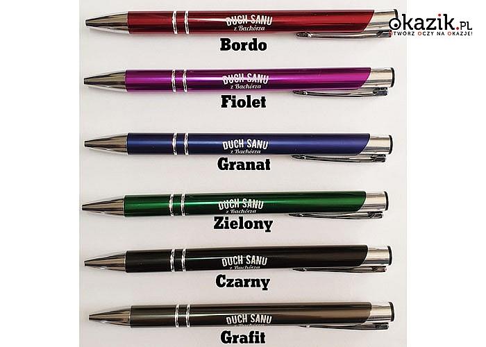 Długopis reklamowy COSMO + grawer laserowy! Wysoka jakość i trwałość znakowania laserem! 30, 50 lub 100 sztuk!