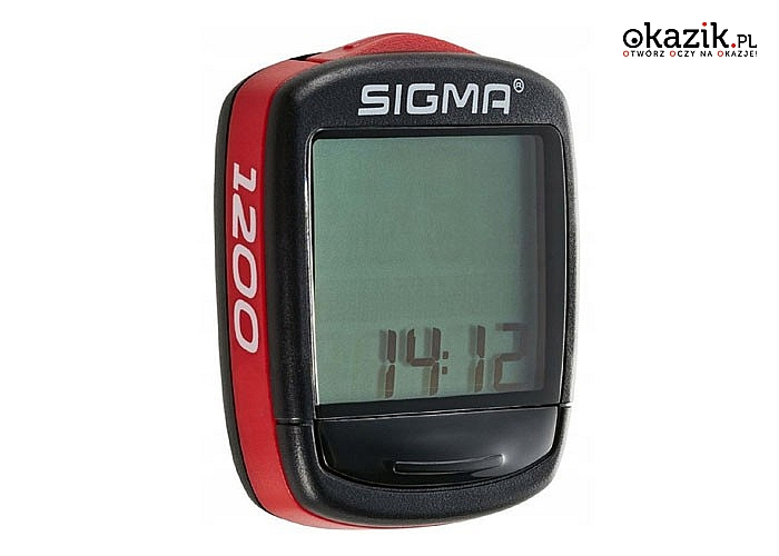 Licznik rowerowy Sigma! Wodoodporny! Posiada 12 funkcji!