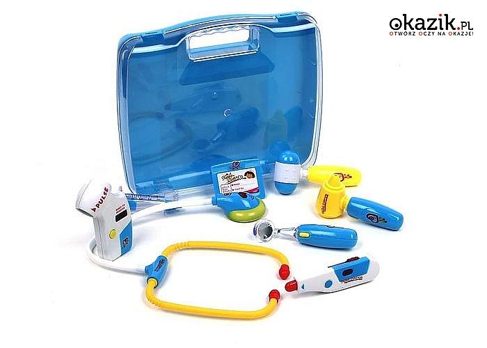 Zestaw lekarski w walizce Mały Doktor! Fantastyczna zabawa gwarantowana! Doskonałe odwzorowanie!