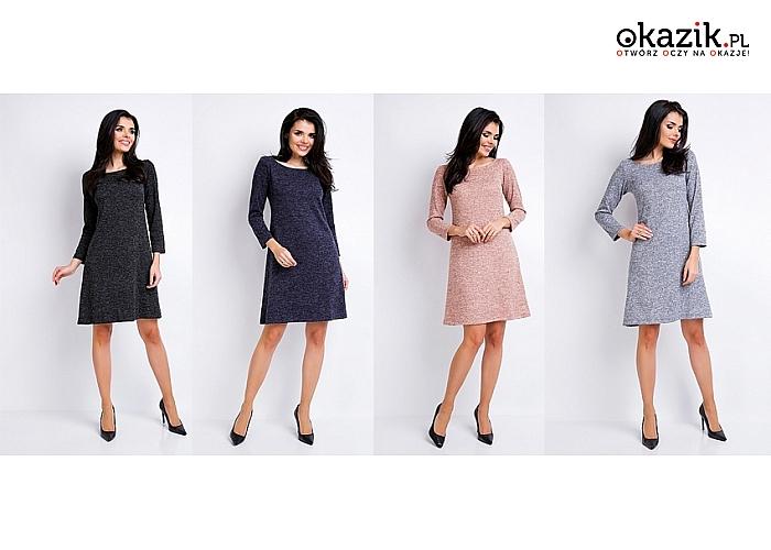 Estetyczna sukienka w minimalistycznym stylu, ponadczasowa i klasyczna. Duży wachlarz kolorów i rozmiarów