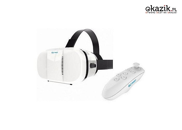 Gogle Garett VR3+Pilot Bluetooth! Prosta obsługa! Odkryj świat wirtualnej rzeczywistości! Szeroka kompatybilność