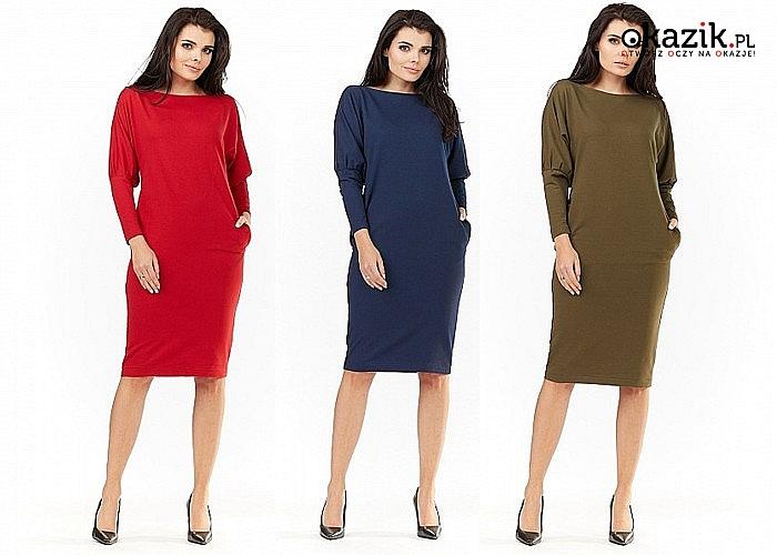 Ołówkowa sukienka damska! Trzy kolory do wyboru