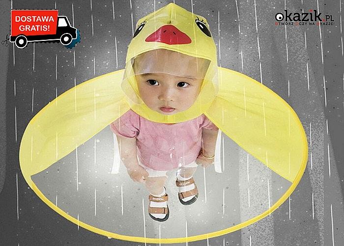 Oryginalny, przeciwdeszczowy płaszczyk-kaczuszka dla dzieci!!!
