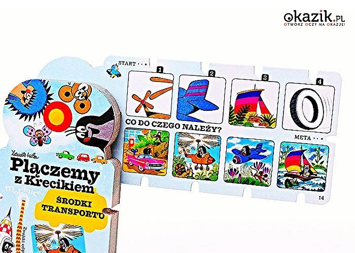 """Plączemy z Krecikiem! """"4 pory roku"""" lub """"Środki transportu"""". Wspaniała zabawa, która rozwija logiczne myślenie! 15 kart!"""