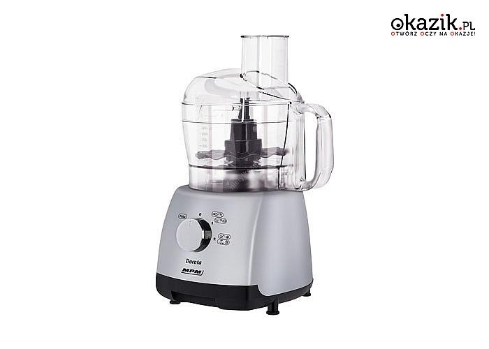 Wielozadaniowy robot kuchenny o dużej mocy z przydatnymi akcesoriami do codziennych czynności w kuchni