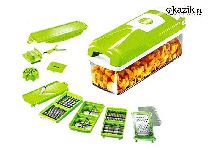 Urządzenie 3 w 1! Krajalnica i szatkownica! Idealna do warzyw, owoców i innych produktów spożywczych!