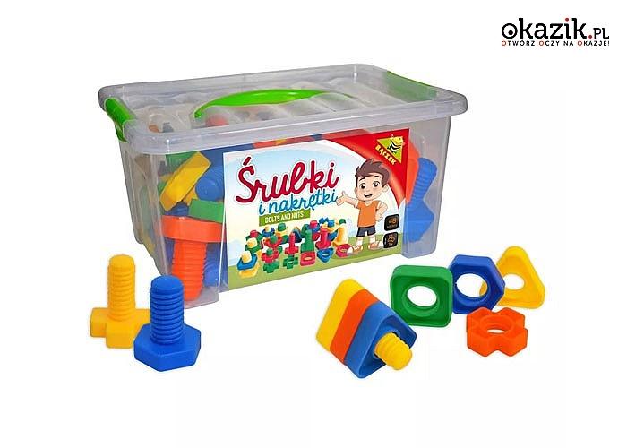 Zabawki motoryczne rozwijające zdolności koordynacyjno-ruchowe dziecka, przeznaczone do wykonania konkretnych czynności