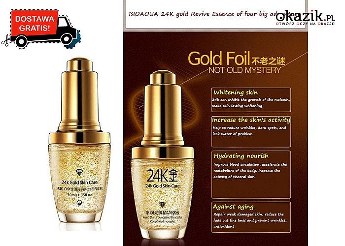 Młoda, piękna i promienna cera z KREMEM Z DROBINKAMI ZŁOTA 24k Gold Skin Care. Darmowa przesyłka!