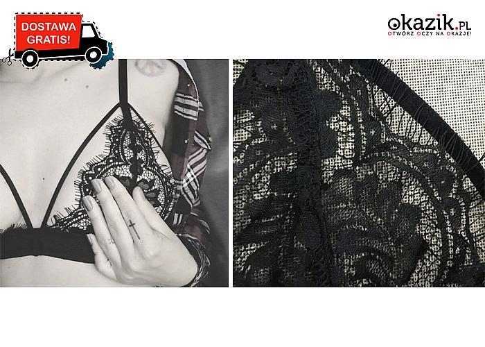 Seksowna bielizna damska: czarny, koronkowy stanik, różne rozmiary. Wysyłka GRATIS!