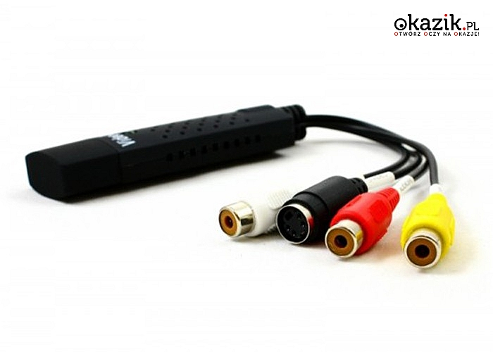 Video Grabber pozwala na podłączenie wszelkiego rodzaju odtwarzaczy analogowych w celu zgrania materiały audio-video