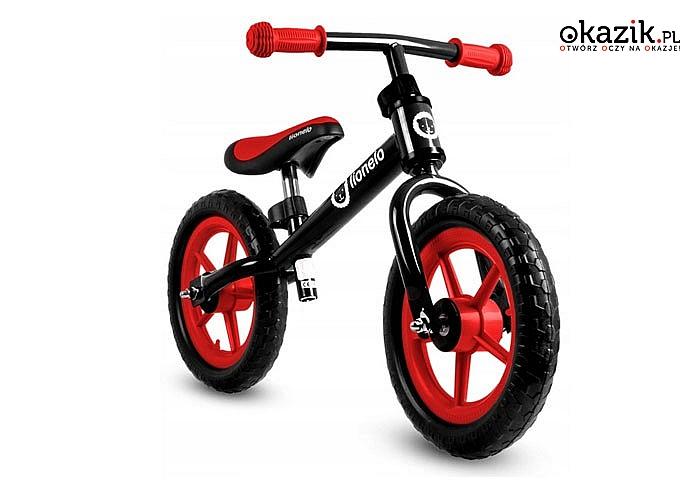 Rowerek biegowy Lionelo Fin Plus! Czarno-czerwony!