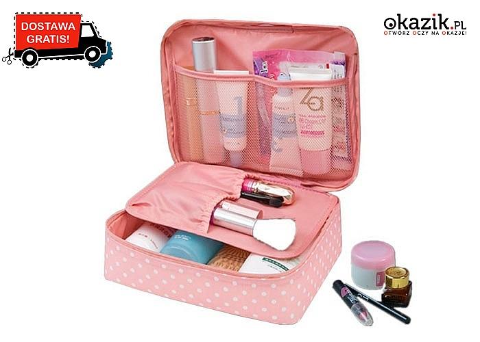 Praktyczny organizer / kosmetyczka! Idealna podczas podróży! Doskonała jakość! Mnóstwo wzorów!