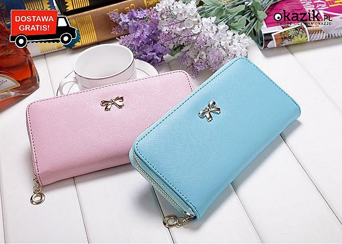 Elegancki portfel damski! Mnóstwo kolorów! Najwyższa jakość wykonania!