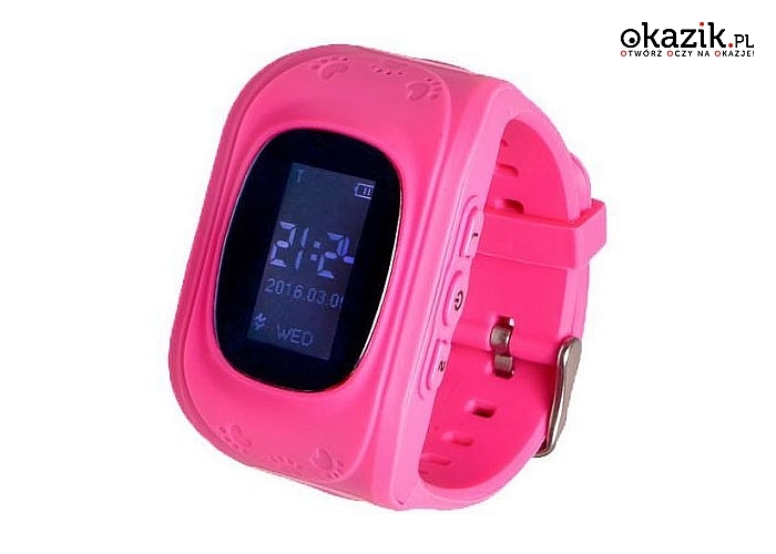 Smartwatch Garett Kids 1! Nowoczesny lokalizator GPS z przyciskiem SOS! Wodoodporna obudowa! 3 kolory!