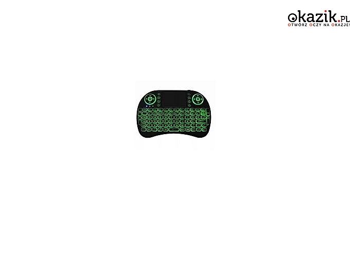 Mini klawiatura bezprzewodowa, podświetlana! Idealna do TV, konsol i nie tylko!