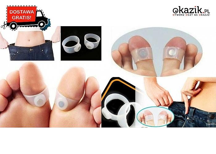 Magnetyczne pierścienie na duże palce u nogi, o działaniu odchudzającym. Wysyłka GRATIS!