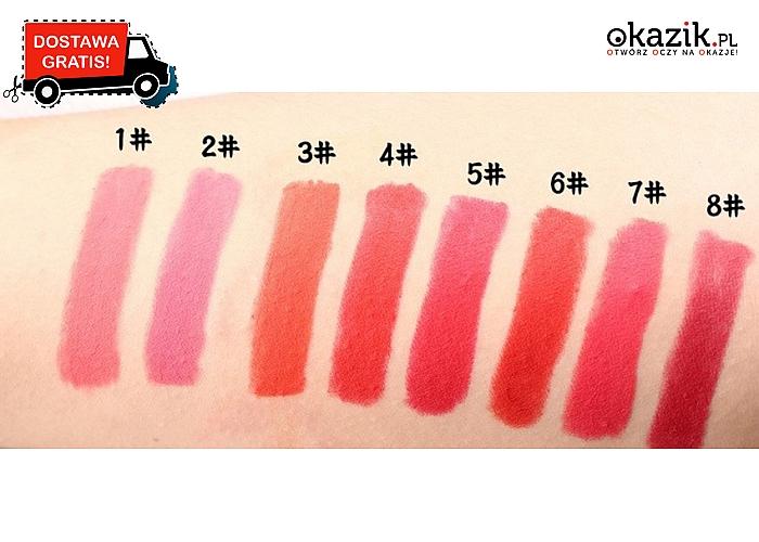 Idealny prezent dla każdej kobiety. Wodoodporna szminka w niecodziennym kształcie, rożne kolory