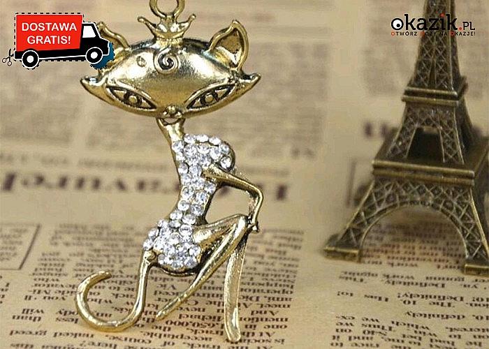 Kocie naszyjniki! Doskonałe na elegancki prezent! Najwyższa jakość wykonania! Zdobione cyrkoniami!