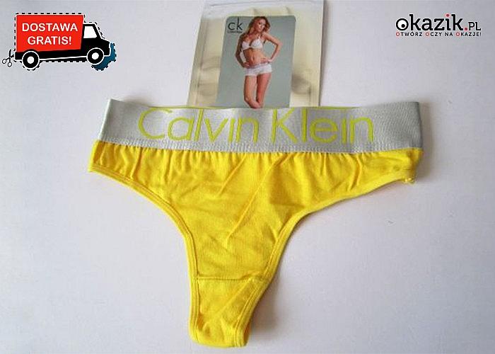 Stringi damskie Calvin Klein! 10 par! Mix kolorów! Wygodne i seksowne! Podkreślają sylwetkę!