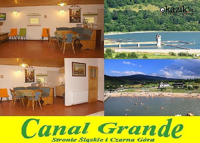 Rodzinne wakacje w Canal Grande Pokoje i Apartamenty! Stronie Śląskie! Zalew, góry, jaskinie i Sudety!