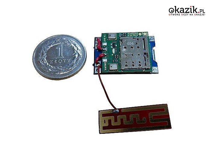 Mikroskopijne urządzenia podsłuchowe GSM z funkcją aktywacji dźwiękiem