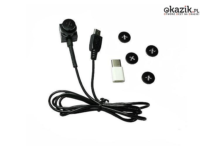 HIT! Miniaturowa kamera w guziku OTG Live! Do nagrywania na telefony komórkowe jak i do transmisji obrazu na żywo!