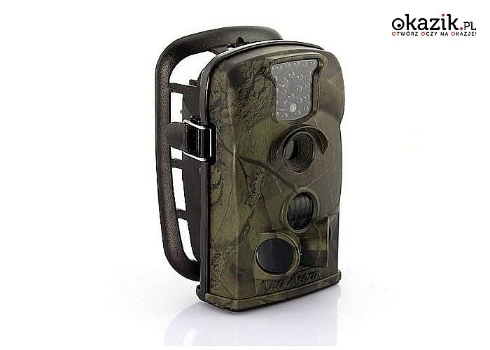 Nowość! Nowoczesna kamera do lasu w formie fotopułapki umożliwiająca dyskretny monitoring przez długi czas! 12 Mpix!