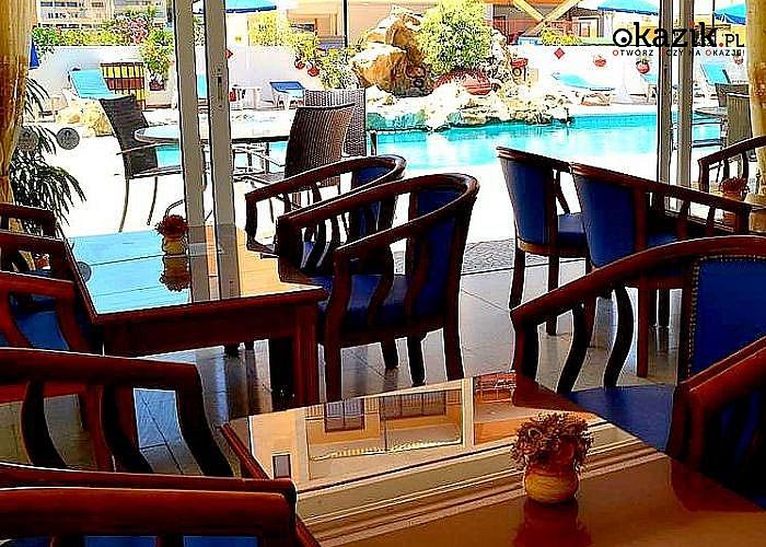 Słoneczny Cypr! Larco Hotel! Larnaka! Transport lotniczy! Wyżywienie! Mnóstwo atrakcji! Basen! 200M od plaży!