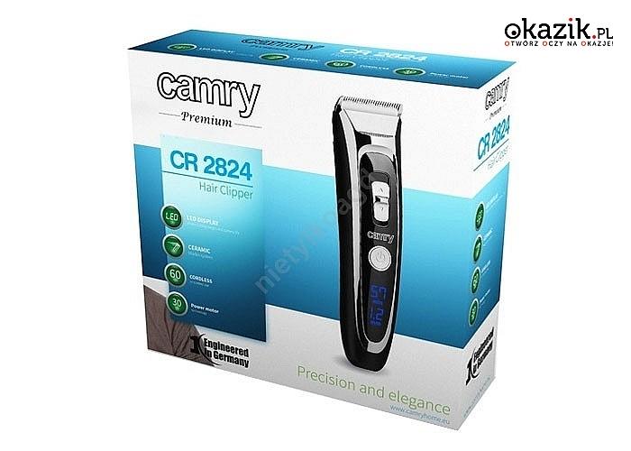 Maszynka do strzyżenia włosów Camry CR2824 z ostrzem ceramiczno-tytanowym