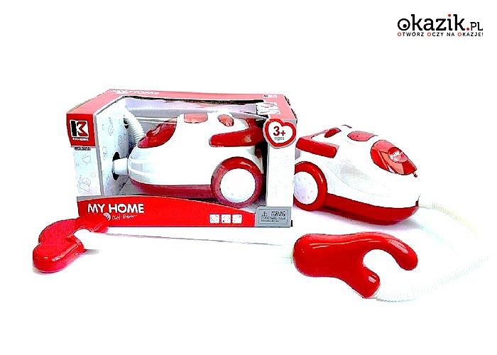 Zabawkowy odkurzacz dla dzieci. Dwa kolory do wyboru.
