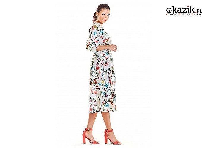 Wiosenna sukienka damska! Najwyższa jakość wykonania! Modny fason! 3 kolory!