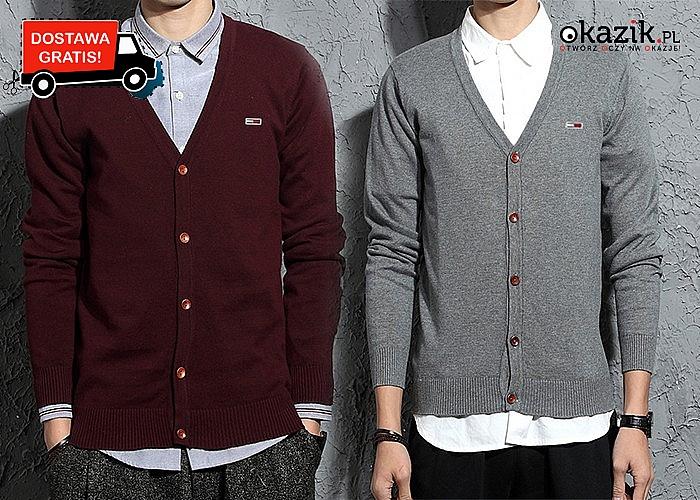 Elegancki sweterek męski Tommy Hilfiger! Najwyższa jakość wykonania!