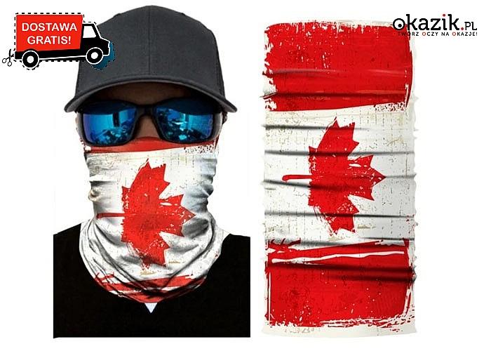 Maska / chusta motocyklowa! Idealna do jazdy! Doskonała jakość i ochrona przed wiatrem!