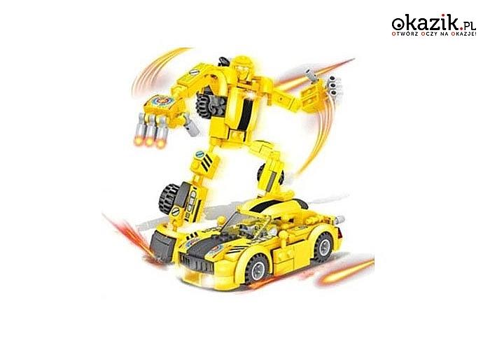 Klocki Transformers 2w1 robot, 145 elementów