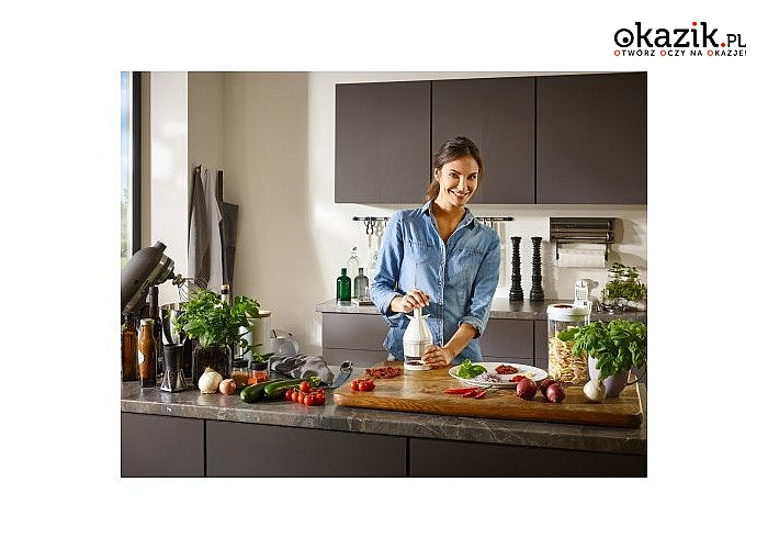 Praktyczny rozdrabniacz do warzyw oraz innych produktów . Wygoda i komfort w przygotowywaniu posiłków.