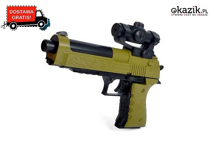 Zabawkowy pistolet Desert Eagle do samodzielnego złożenia – instrukcja w zestawie