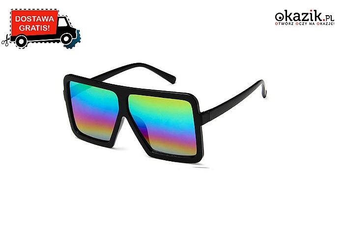 BESTSELLER! Duże, kwadratowe okulary przeciwsłoneczne dla kobiet!