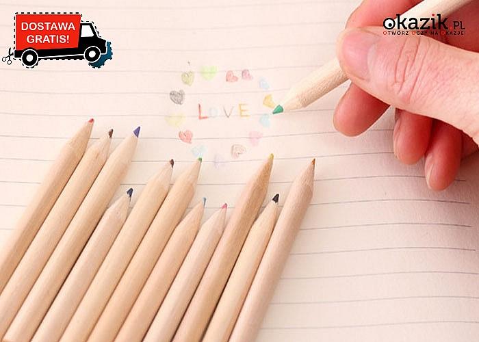 OKAZJA! Zestaw małych, kolorowych kredek dla dzieci w ślicznych pudełkach!