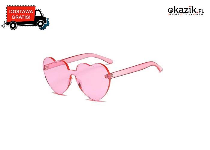 HIT W STYLU RETRO!! Okulary przeciwsłoneczne w kształcie serduszek