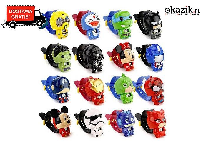 NOWOŚĆ! Elektryczne zegarki dla dzieci z bohaterami z bajek!