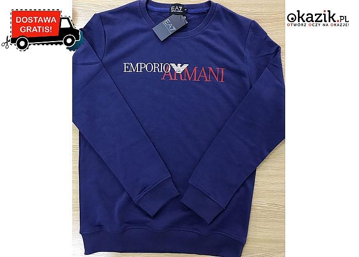 Doskonała na chłodniejsze wieczory! Bluza męska Emporio Armanii! DARMOWA przesyłka! Mnóstwo kolorów!