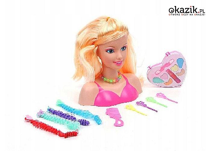 Głowa do stylizacji spodoba się każdej dziewczynce! Prawdziwe malowidła!
