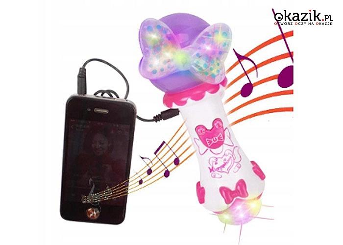 Wielofunkcyjny mikrofon sprawi, że Twoje dziecko poczuje się jak na prawdziwej scenie muzycznej!